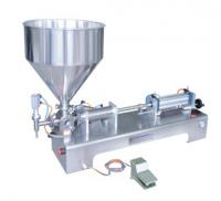 Пневматический дозатор для вязких продуктов с системой нагрева и перемешивания в бункере